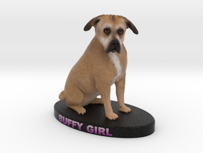 Custom Dog Figurine - Buffy in Full Color Sandstone