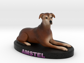 Custom Dog Figurine - Amstel in Full Color Sandstone