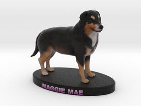 Custom Dog Figurine - Maggie Mae in Full Color Sandstone