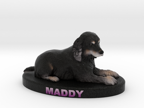 Custom Dog Figurine - Maddy in Full Color Sandstone