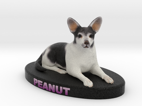 Custom Dog Figurine - Peanut in Full Color Sandstone