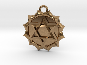 Anahata (Heart Chakra) Pendant in Natural Brass
