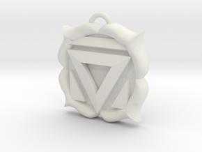 Muladhara (Root Chakra) Pendant in White Natural Versatile Plastic