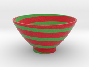 DRAW bowl - segmented F in Full Color Sandstone