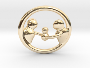 """""""Our Family"""" Pendant in 14K Yellow Gold"""