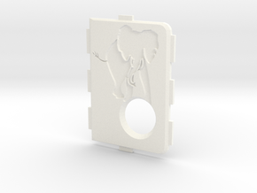 MarkV Cover  - Elephant 1 in White Processed Versatile Plastic