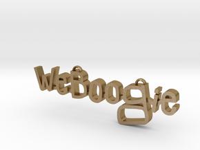 Weboogie Pendant in Polished Gold Steel