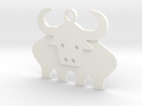 Ox in White Processed Versatile Plastic