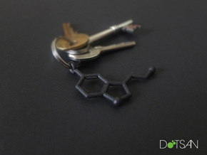 Serotonin Key chain Matte Black and Gold Steel in Matte Black Steel