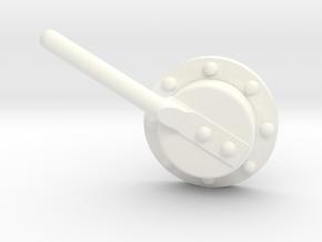 "1 1/2"" Scale Baldwin Smoke Box Cleanout Ver. A in White Processed Versatile Plastic"