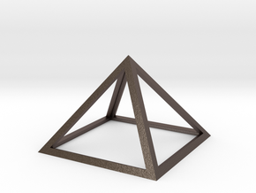 Perfect Pyramid in Polished Bronzed Silver Steel