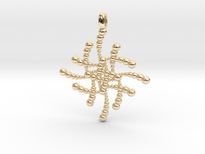 SUBATOMICAL Spheres Designer Jewelry Pendant. in 14K Yellow Gold