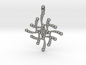 SUBATOMICAL Spheres Designer Jewelry Pendant. in Natural Silver