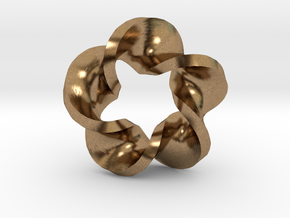 Five Twist Mobius in Natural Brass