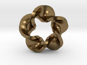 Five Twist Mobius in Natural Bronze
