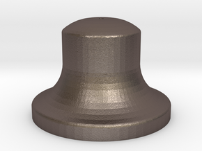 """1"""" Scale Bell in Polished Bronzed Silver Steel"""