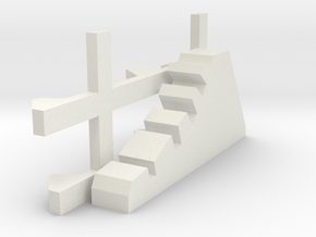 1-87 Scale Dragon Teeth Road Barrier (need 2) in White Natural Versatile Plastic