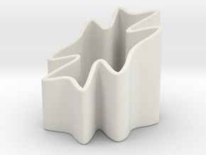 Clover Pencil Holder in White Natural Versatile Plastic