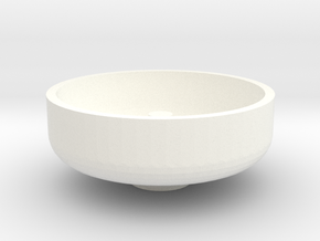 "3/4"" Scale Nathan Whistle Bowl in White Processed Versatile Plastic"