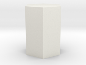 Hexagonal prism in White Natural Versatile Plastic