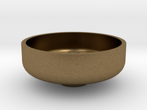 """1 1/2"""" Scale Nathan Whistle Bowl in Natural Bronze"""