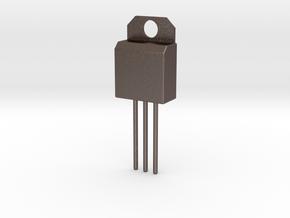 Voltage Regulator Pendant in Polished Bronzed Silver Steel
