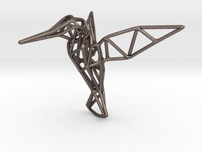 Hummingbird in Polished Bronzed Silver Steel