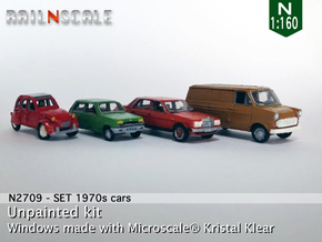 SET 4x 1970s cars (set A) in Frosted Ultra Detail