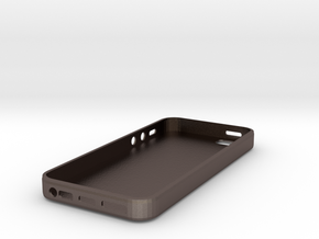 IPhone 5 - Case - New York in Polished Bronzed Silver Steel