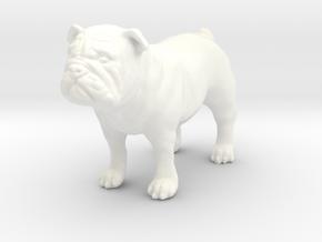 Bulldog  in White Processed Versatile Plastic