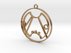 Rose - Necklace in Polished Brass
