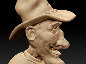 Happy Cowboy in Natural Sandstone