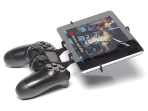 PS4 controller & HP Slate10 HD in Black Natural Versatile Plastic