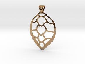 Hawksbill sea turtle pendant in Polished Brass