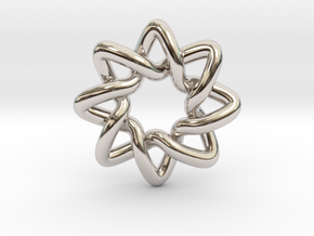 Basic Compass Knot in Platinum