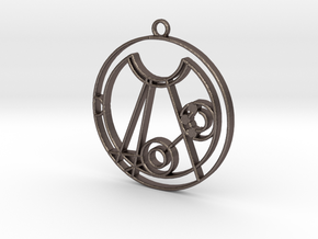 Melissa  - Necklace in Polished Bronzed Silver Steel