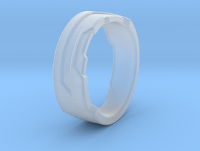 Ring Size F in Smooth Fine Detail Plastic
