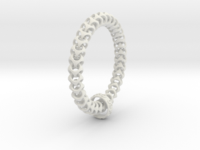 Cubichain Bracelet (Multiple sizes) in White Natural Versatile Plastic: Small