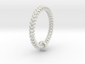 Cubichain Bracelet (Multiple sizes) in White Strong & Flexible: Medium
