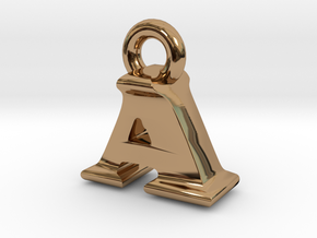 3D Monogram Pendant - AIF1 in Polished Brass
