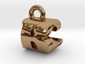 3D Monogram Pendant - BCF1 in Polished Brass