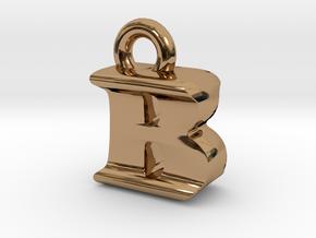 3D Monogram Pendant - BIF1 in Polished Brass