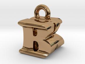 3D Monogram Pendant - BKF1 in Polished Brass