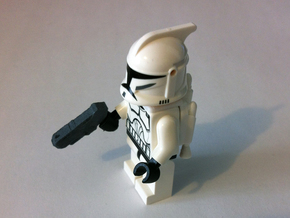 Custom futuristic pistol x4 for Lego minifigs  in White Strong & Flexible
