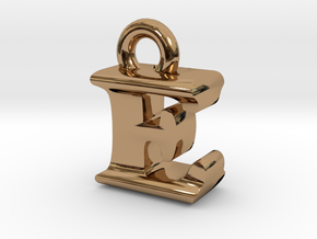 3D Monogram Pendant - EIF1 in Polished Brass