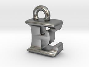 3D Monogram Pendant - EIF1 in Natural Silver