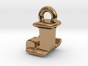 3D Monogram Pendant - JLF1 in Polished Brass