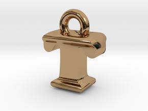 3D Monogram - TIF1 in Polished Brass