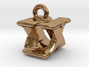 3D Monogram - UXF1 in Polished Brass