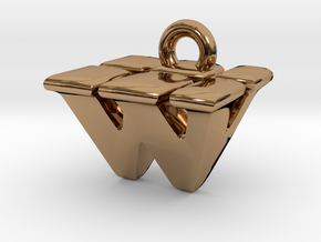 3D Monogram - WVF1 in Polished Brass